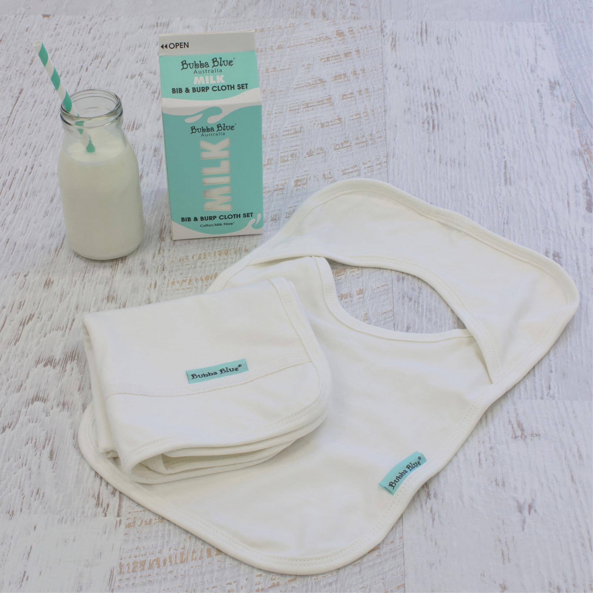 Bubba Blue MILK Bib & Burp Set