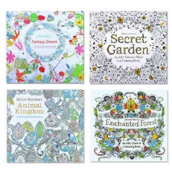 Media, Music Books Art Books 4 Pcs Secret Garden Coloring Graffiti Book For Children Adult Relieve Stress Kill Time Painting Drawing Books(2016 New) - intl