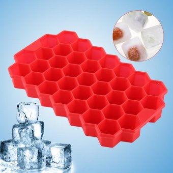 Silicone 37 Hexagon Shaped Small Ice Cube Freeze Mold Tray - intl