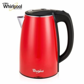 Whirlpool 1.7L Electric Kettle Stainless Steel Safe to Touch -Brilliant Red