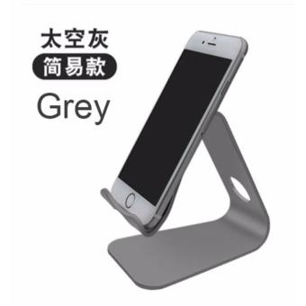 Aluminium Alloy handphone smartphone table stand holder (Grey)