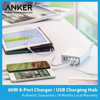Anker Powerport 6 60W 6-Port USB Fast Charger [SG Plug]