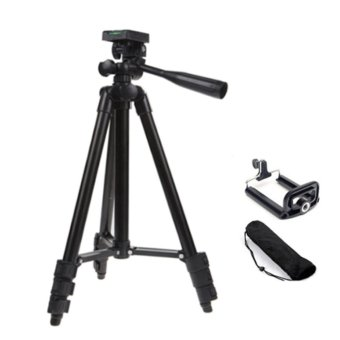 Black Light Weight Tripod 3120 for Handphone Digital Camera iPhone
