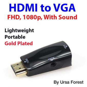 Gold Plated FHD HDMI to VGA Adapter