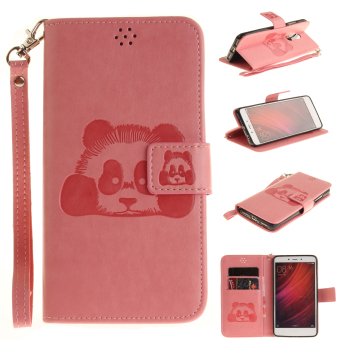 Ueokeird Panda Protective Stand Wallet Purse Credit Card ID Holders Magnetic Flip Folio TPU Soft Bumper PU Leather Ultra Slim Fit Case Cover for Xiaomi ...