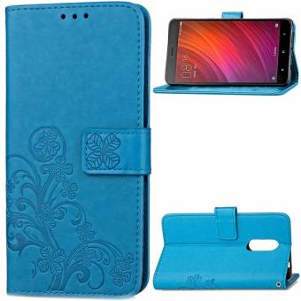 BYT Flower Debossed Leather Flip Cover Case for Xiaomi Redmi Note 4 - intl