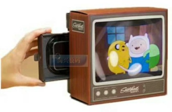 Kidmemory retro small TV smartphone magnifying glass
