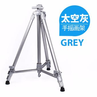 Colorful Portable Easel Aluminium Alloy Tripod Stand - Grey