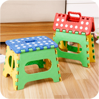 Diaoyu plastic thick adult children small stool folding stool