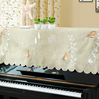 Embroidery European piano cover full cover cloth pastoral piano cover piano full cover piano cover towel Dust Cover