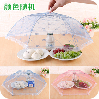 Foldable dish umbrella cover table cover food cover