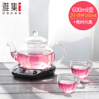 Insulation heat-resistant glass teapot flower pot