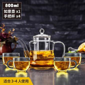 Juqianyi heat-resistant glass large filter tea pot glass teapot