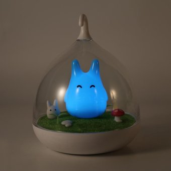 Lovely LED Night Light USB Rechargeable Touch Home Decor Blue -intl
