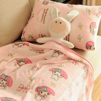 Melody cute flannel New style bedsheet blanket small blanket