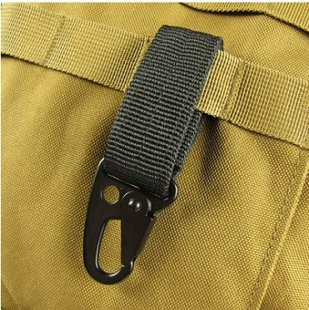 Outdoor tactical equipment nylon ribbon hanging buckle key Buckle