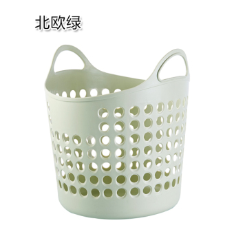 Plastic plain toys debris storage basket laundry basket