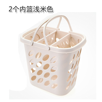 Plastic portable dirty clothes storage basket laundry basket
