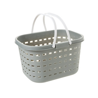 Plastic portable laundry basket