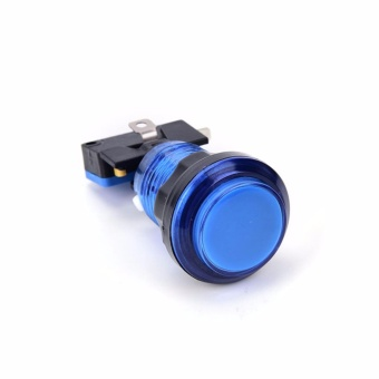 Round Illuminated Arcade Push Button With Led Light Available Blue- intl