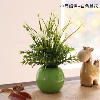 Shallots small orchid model plant plastic flower Bonsaii