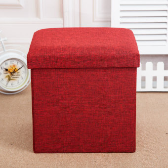 Strengthen can be folding multi-function storage stool
