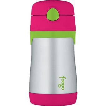 THERMOS FOOGO Vacuum Insulated Stainless Steel 10-Ounce StrawBottle