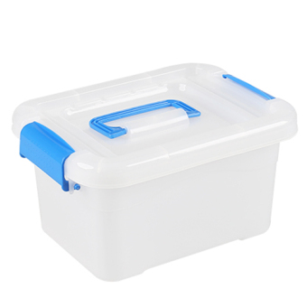 Transparent can be portable thick plastic box storage box