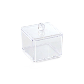 Transparent desktop storage cosmetic cotton box storage box