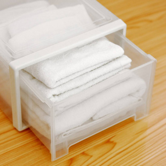 Transparent Plastic dress clothes storage box drawer storage box