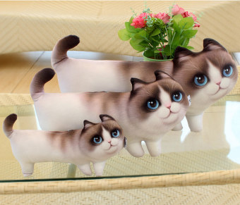 3D cute cat doll pillow