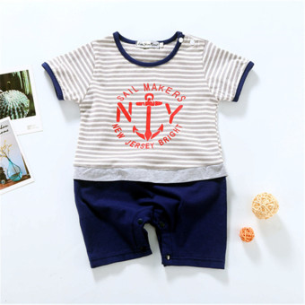 Baby summer New Cotton Short sleeved piece clothing