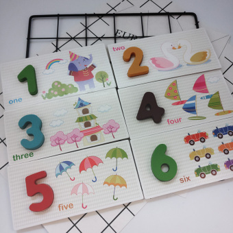 Baobao early childhood animal cognitive lettered with numbers card