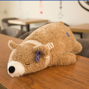 Huggable bear cloth doll pillow