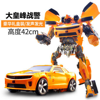 Manual deformation Toys 5 car machine people gift Diamond