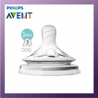 Philips Avent Natural Teat 3 Hole Medium Flow 2pcs per Set x1 Pack