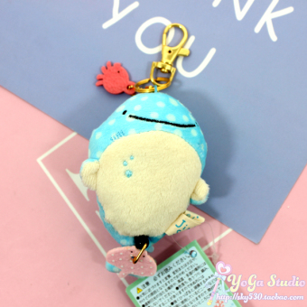 San-X Series Whale Mr. plush doll key cap Buckle