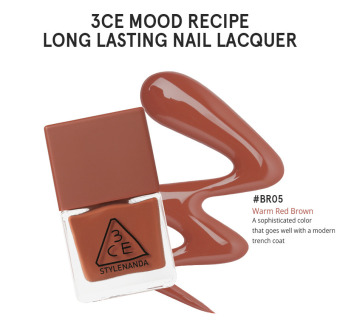 3CE MOOD RECIPE LONG LASTING NAIL LACQUER #BR05-intl