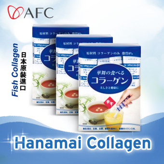AFC Hanamai Fish Collagen Powder Sachet (30s x 1.5gm) 3 boxes
