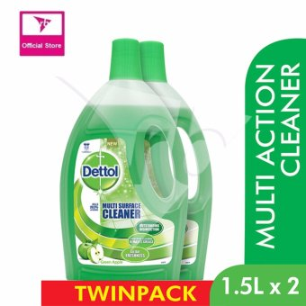 Dettol Multi Surface Cleaner Green Apple Value Pack 1.5L x 2