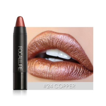 Focallure New Metal Color Lip Sexy Party Gloss Long-lastingLipstick #24 - intl