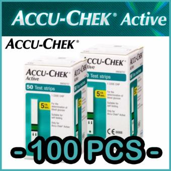 Roche Accu Chek Active Test Strips 2 Box (100 PCS) - intl