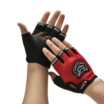 Women Men Body Building Fitness Exercise Weight Lifting Gloves GymTraining Red