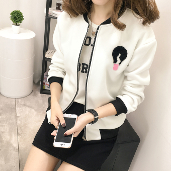12 Spring and Autumn junior high school student Korean-style jacket (White)