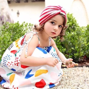 2017 European and American summer Bobo girls dress children's dressDungaree dress beach dress girl skirt