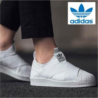 Adidas Originals Superstar Slip-on Shoes S81338 White/White Express- intl