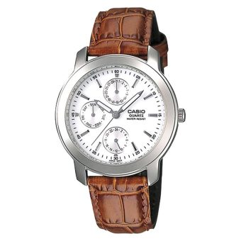 Casio Classic Series Men's Brown Leather Strap Watch MTP1192E-7A