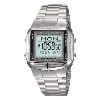 Casio Databank Men's Silver Stainless Steel Strap Watch DB360-1A
