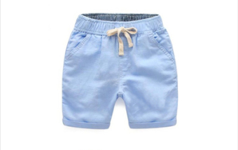 Cotton boy's Capri pants children's shorts (Blue hanni Five Points pants)