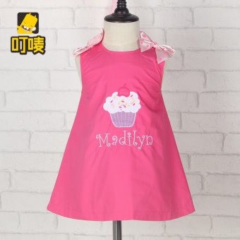 Cotton New style baby children's skirt girls dress (Rose cake) (Rose cake)